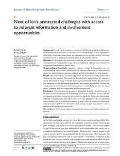 Next of kin's protracted challenges with access to relevant